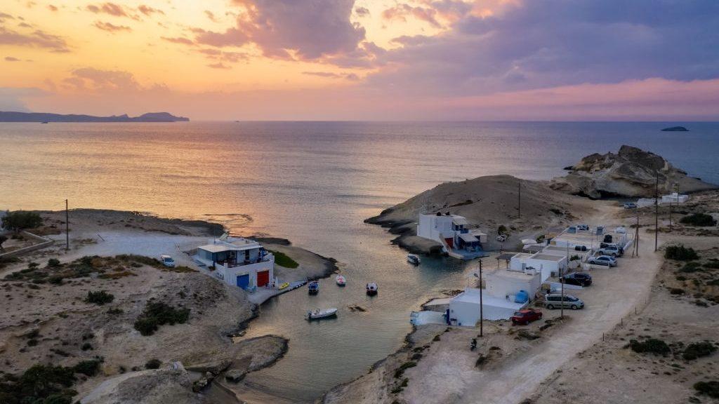 agios konstantinos in Milos island