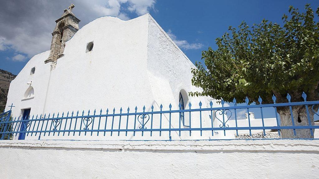 Greek white church in Komitades