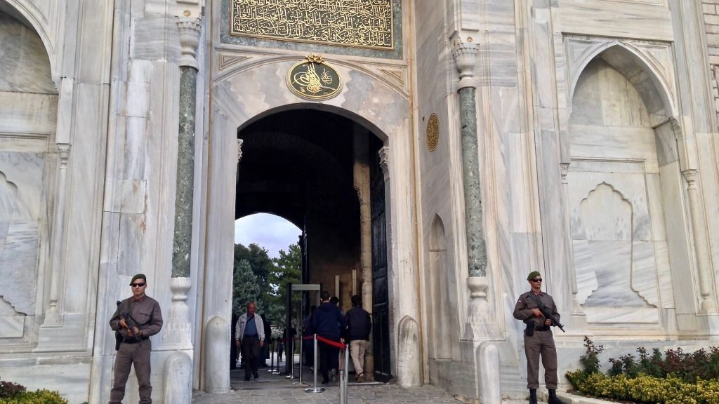 The main outer gate of the Topkapi Palace, ancient seat of the Ottoman Empire's rulers.