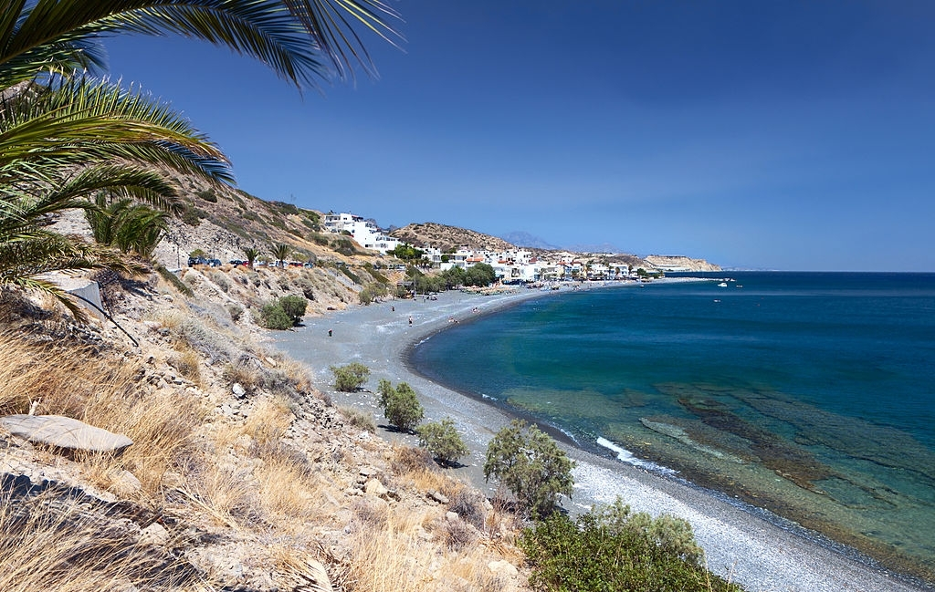 Mirtos bay in Greece, near Ierapetra city