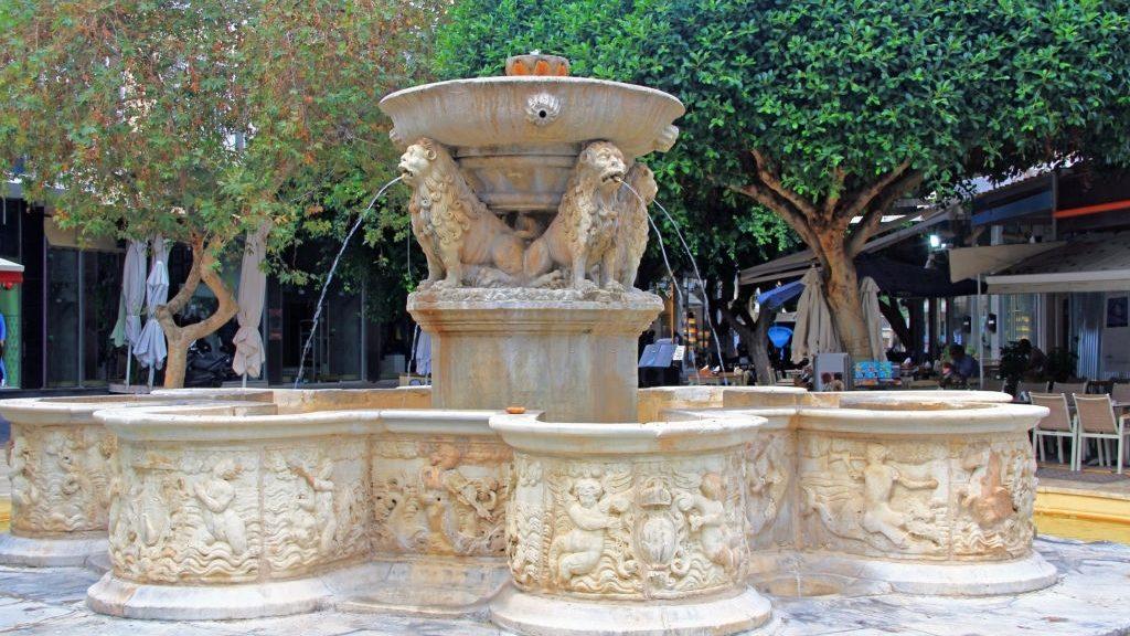 Ornate Morosini Fountain, or Lions Fountain