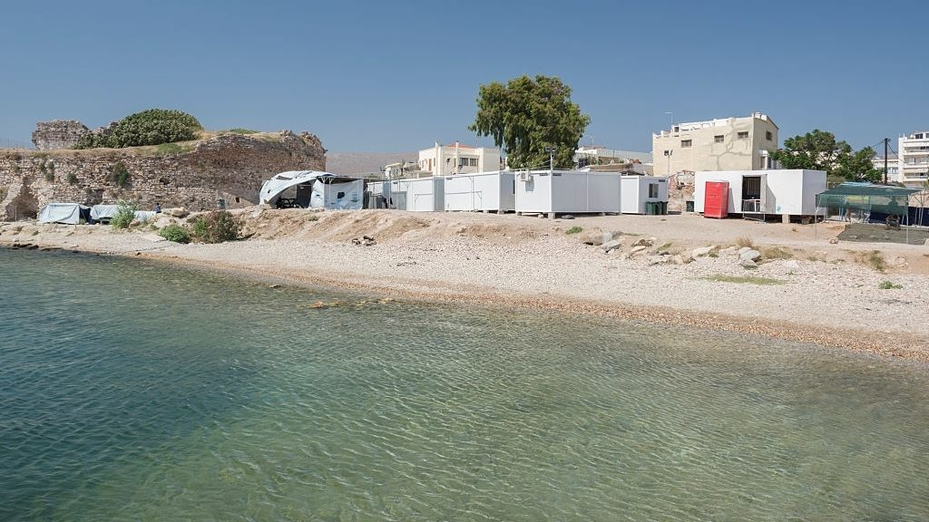 Souda refugee camp in Chios