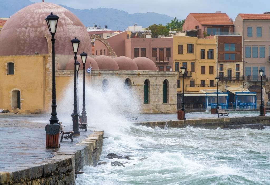 streets of Kasteli, the of town of Chania