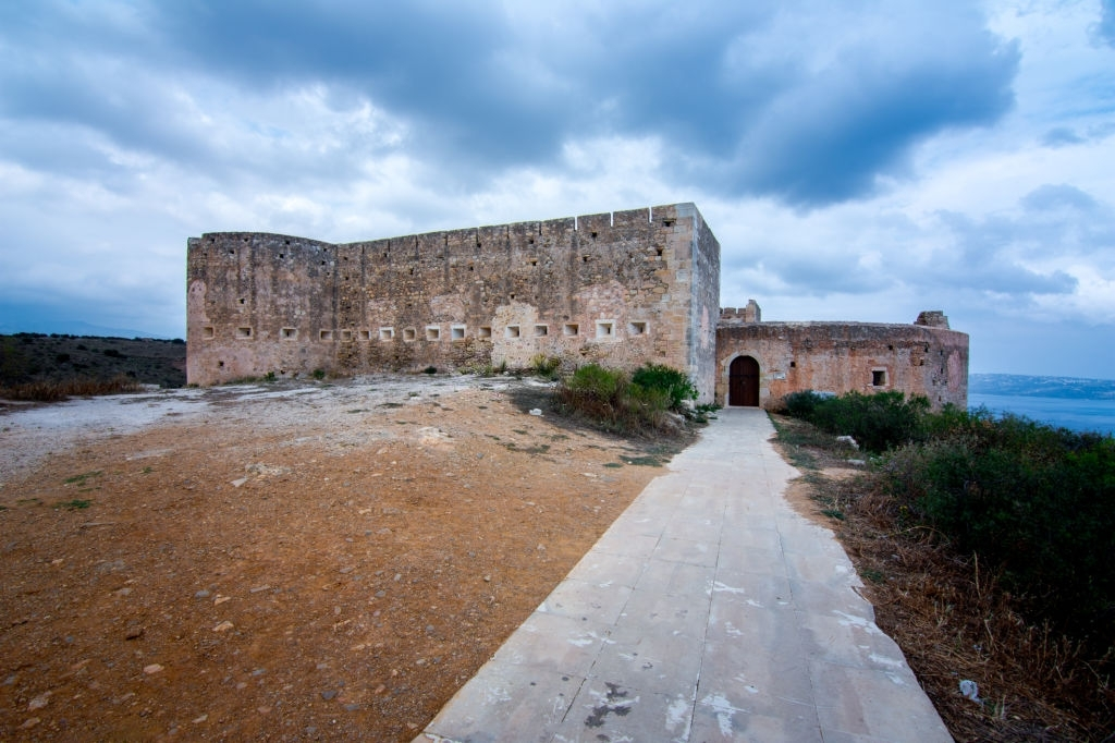 Turkish medieval fortress at Ancient Aptera in Chania