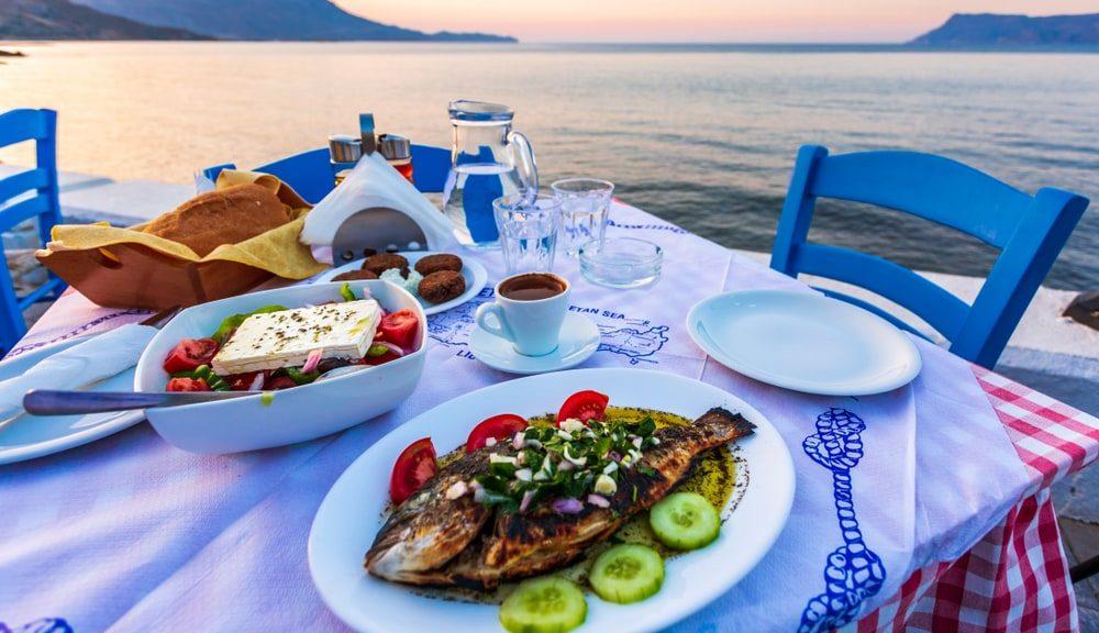 Table in taverna in Crete